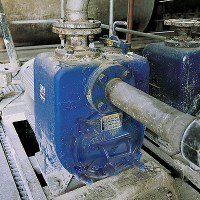 Solids-Handling Pump in operation