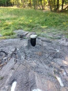 The well. 265 feet deep, 15 gal/min.