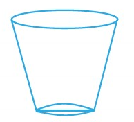 the shape of a glass tumbler is
