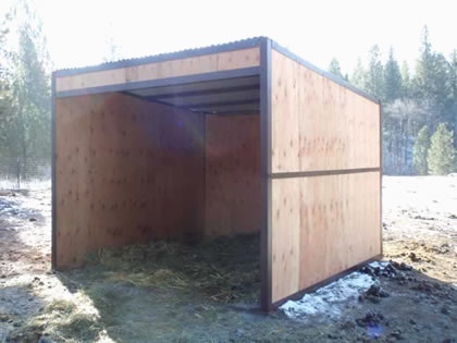 Inexpensive Wood Shed Kits  horse shed kit diy portable loafing
