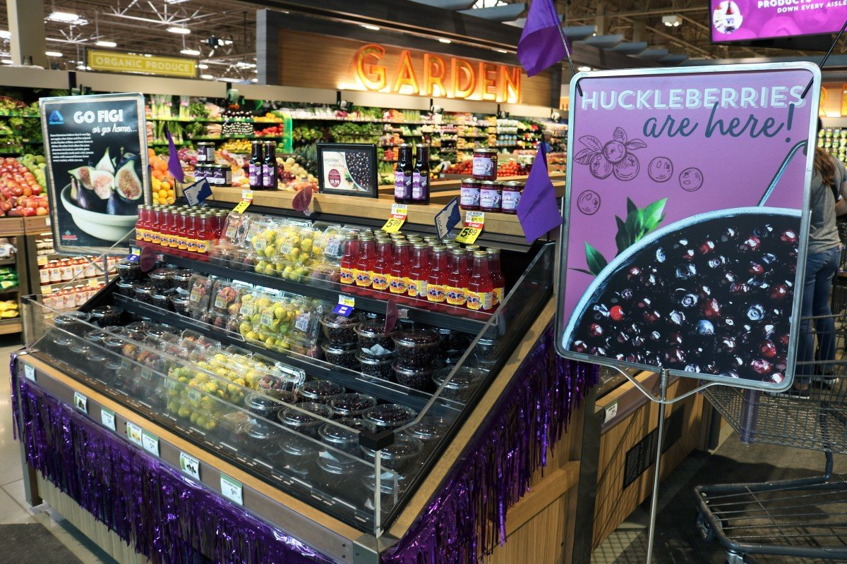 Fresh Huckleberries at Albertsons on Broadway