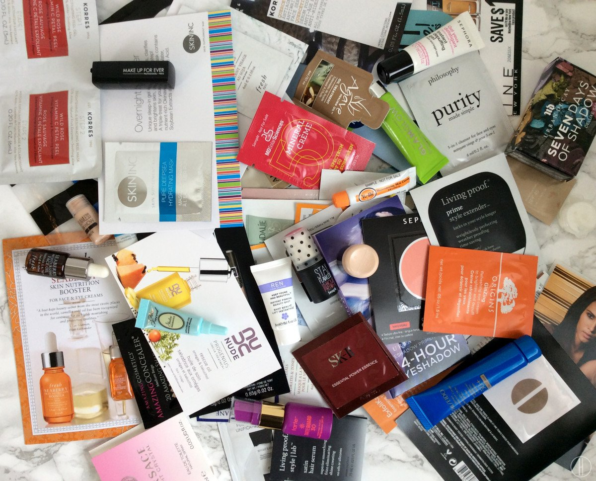 How To Use Your Makeup Samples Wisely | hayle santella | www.haylesantella.com