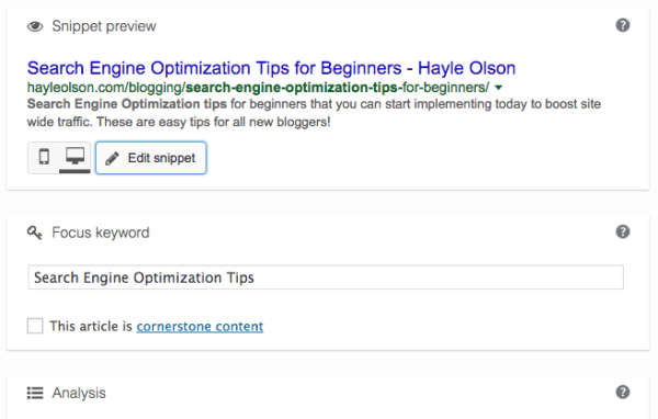 Search Engine Optimization Tips for Beginners | How To Start A Blog | hayle santella | www.haylesantella.com