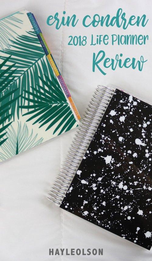 Erin Condren 2018 Life Planner Review | hayle santella