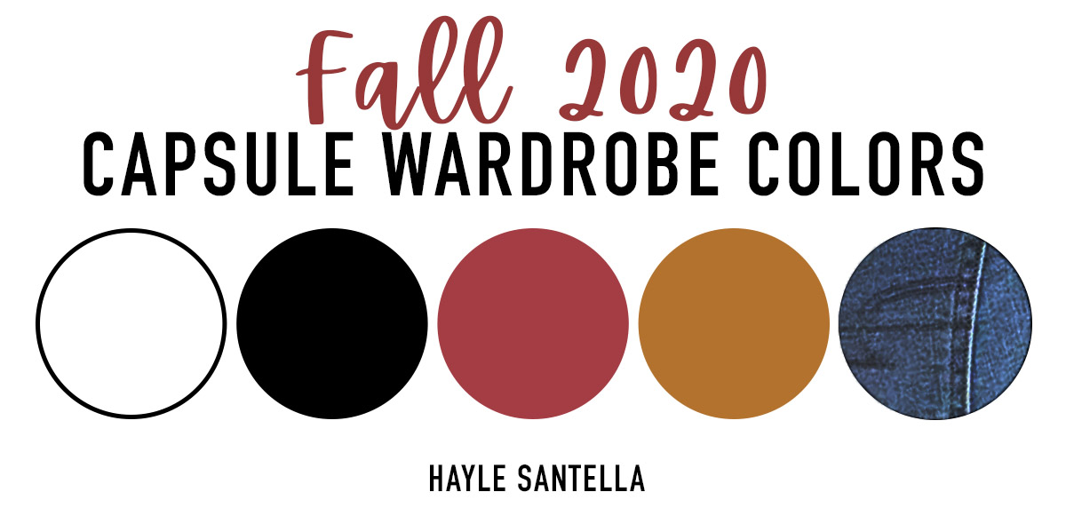 Fall 2020 Capsule Wardrobe Color Palette