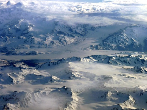 From a plane somewhere between Seattle and Fairbanks