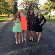 My friends and I before homecoming!