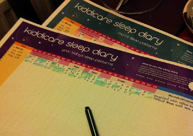 Kiddicare Sleep Diary