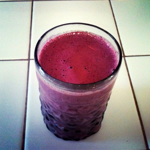 Winter Purple Kale and Berry Smoothie