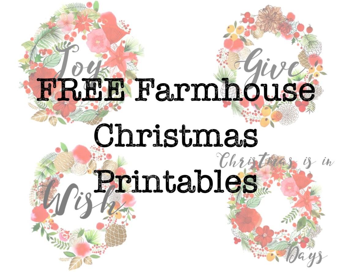 Free Farmhouse Vintage Christmas Printables – Hayley Lynn Lifestyle