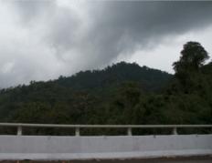 Blurry Malaysia mountain