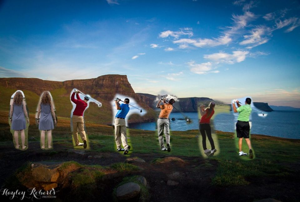 Golf compositing example