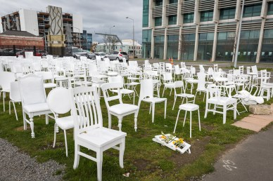 A chair for each person who died in the Christchurch earthquake