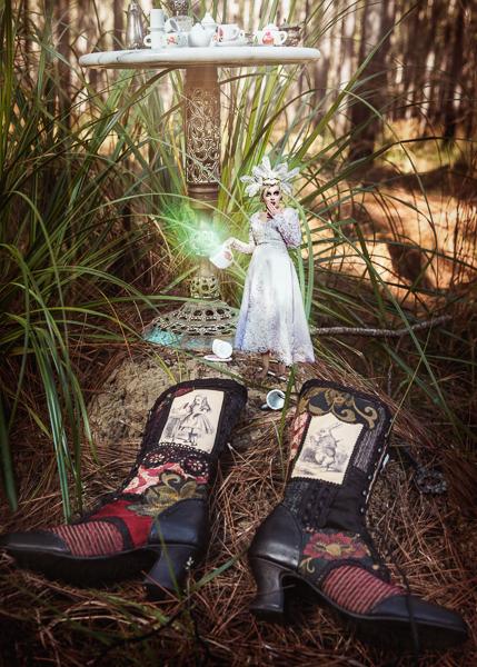pendragon, shoes, alice in wonderland, photoshoot