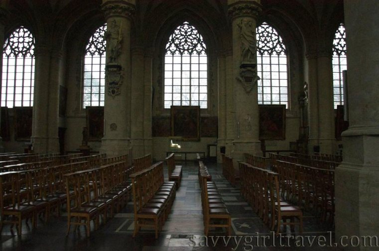Brussels Belgium Cathedral Solo Traveler Writing Workshops Chapel Church