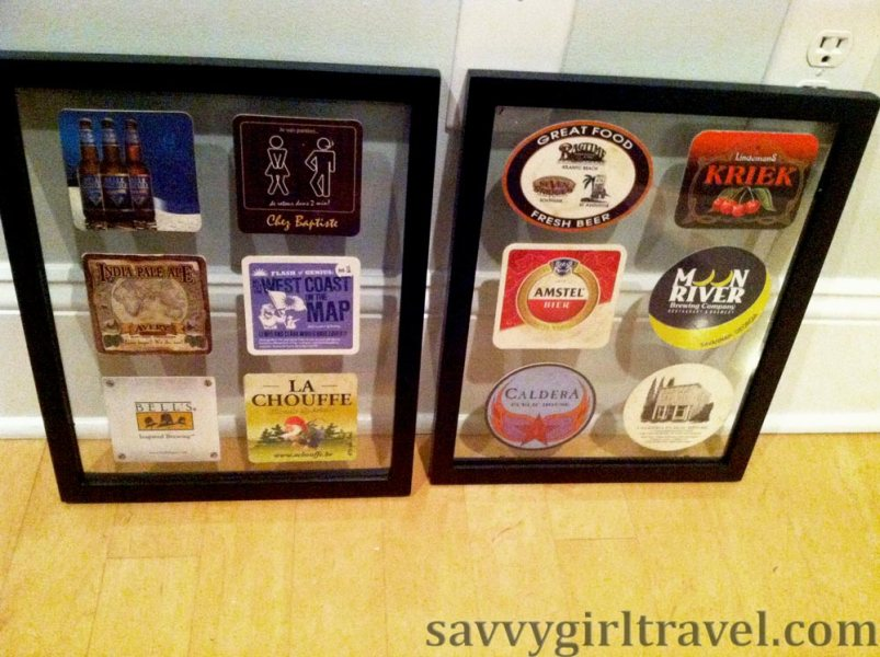 Beer coasters from around the world travel writing workshops