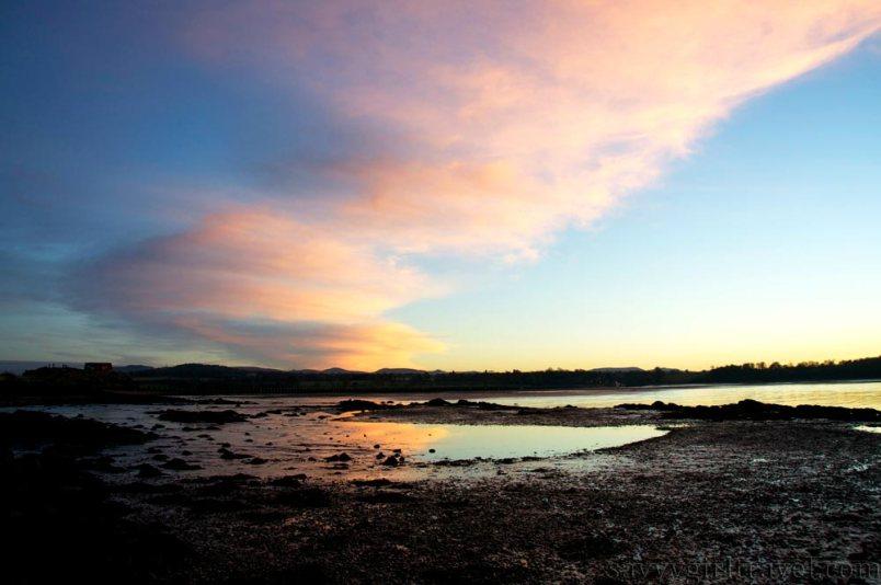 Cramond Island Scotland travel writer workshops