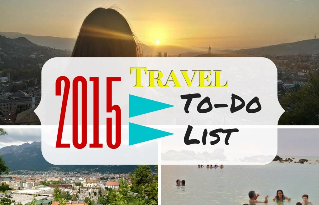 2015 Travel To Do List Writing Workshops