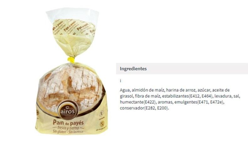 Pan de payés sin gluten