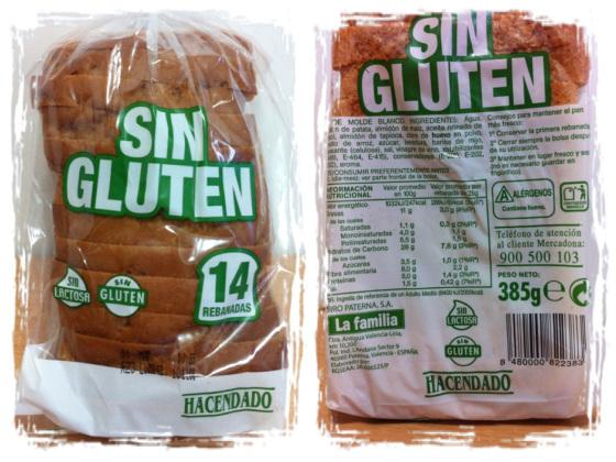 pan sin gluten hacendado