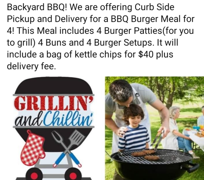curb side pickup for BBQ at Hays City Store