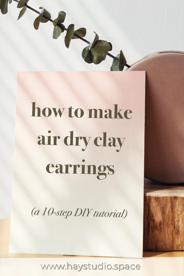 How to make air dry clay earrings DIY