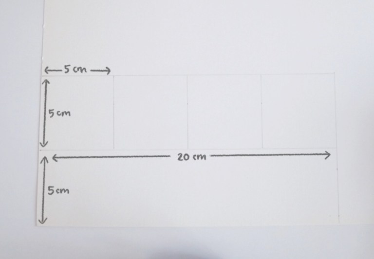 Valentine's Day Card DIY - Measurements