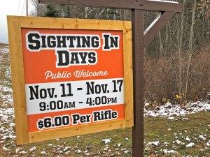 Sight-In Days at the Hayward Rod and Gun Club
