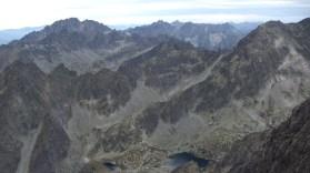 Kilátás a Lomnici-csúcsról nyugat felé