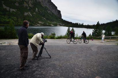 Forgatás a Poprádi-tónál