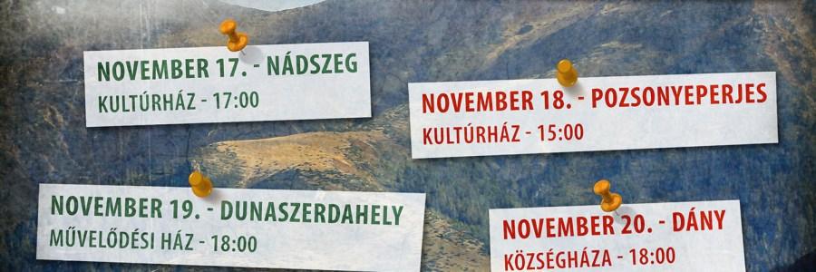 Közönségtalálkozó körút novemberben