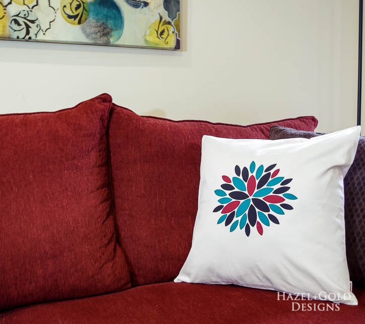 diy modern flower pillow by hazel and gold designs