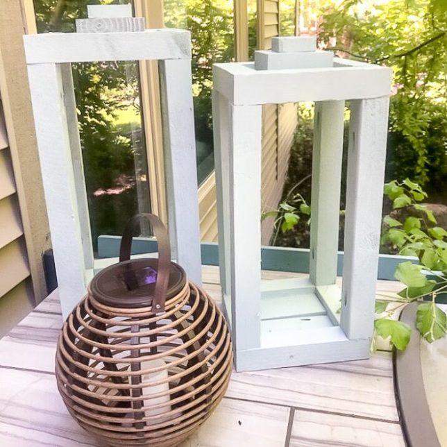 diy wood lantern farmhouse by hazel and gold designs