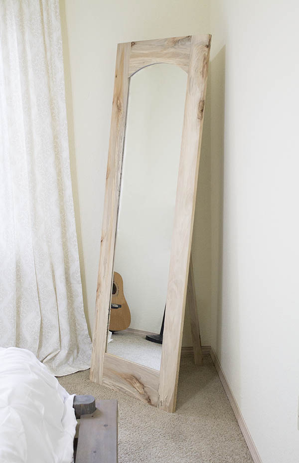 DIY Arched Standing Floor Mirror