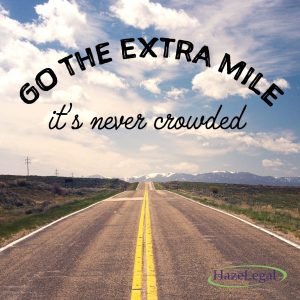 Go the extra mile :-)