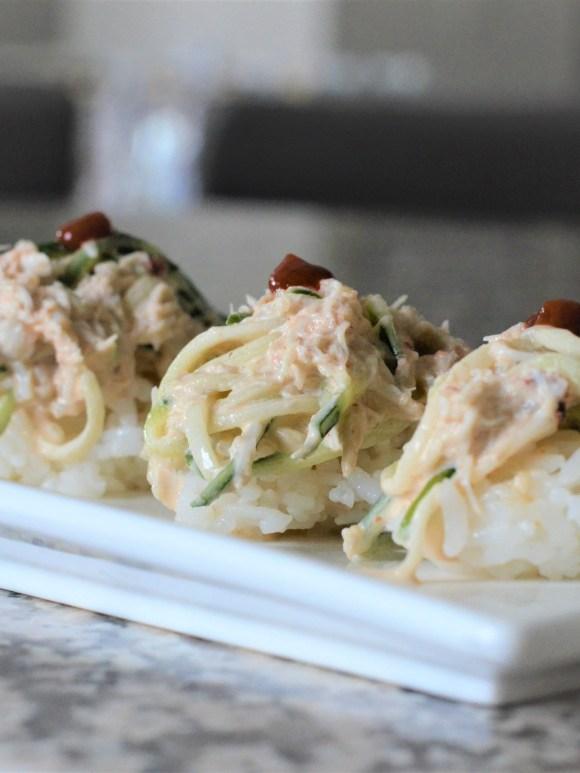 hazeleyesmom.com spicy kani salad