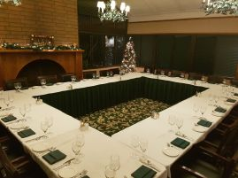 Hazelmere Fireside Room Holiday Square Tables 2017