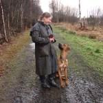 Hazel Shimmin, Dog Trainer and Behaviour Advisor, with her dog, Duke