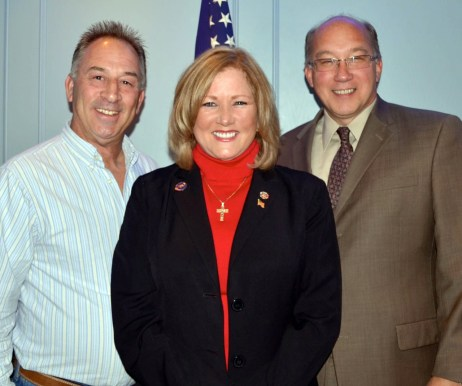 Republican Committee Members Mike Sachs, Sue Kiley and Scott Aagre