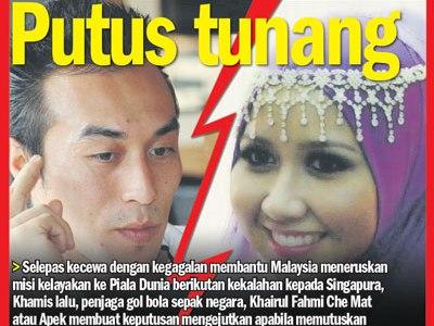 Khairul Fahmi Putus Tunang