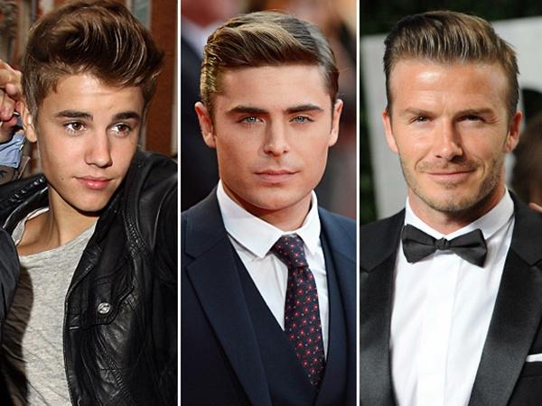 Justin Bieber, Zac Efron, David Beckham Pompadour Hair