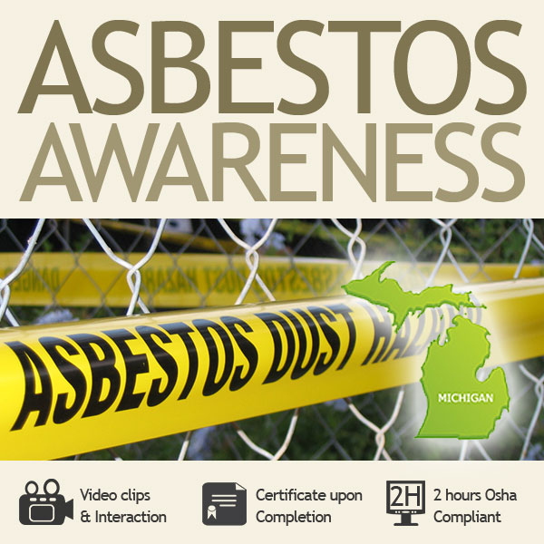 2 hour asbestos awareness for Michigan state