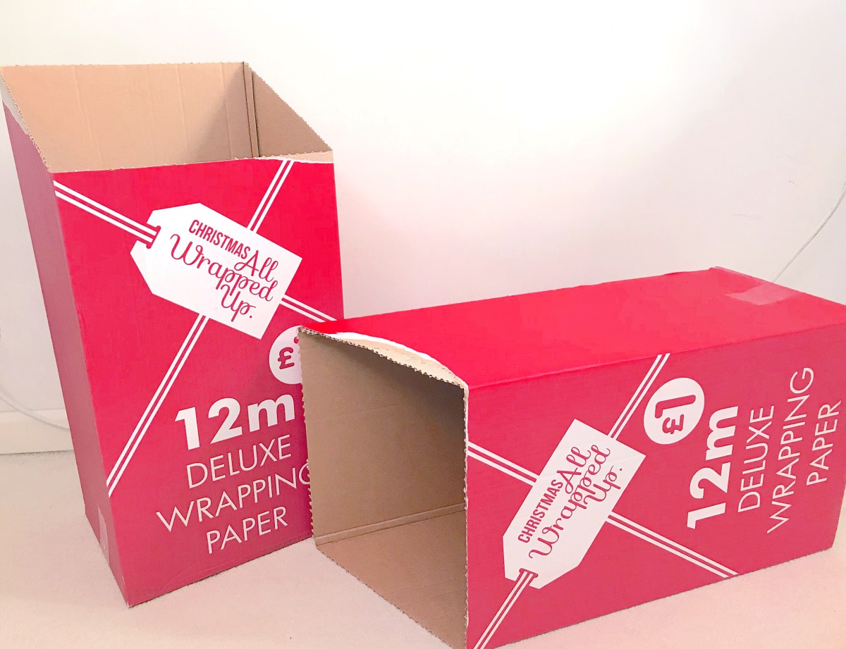 Gift wrapping storage boxes