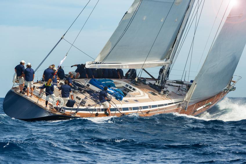 Saint Tropez sail boat sailing in regatta