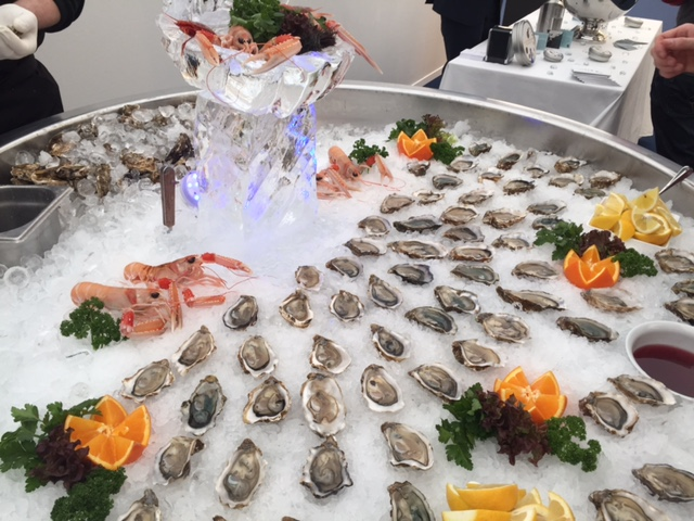 Oysters at the BMW VIP tent White Turf 20-17