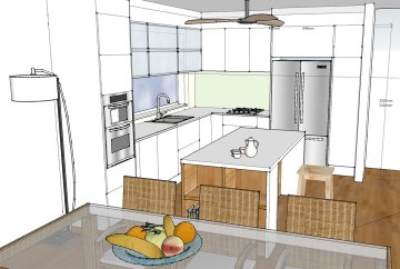 Kitchen Renovation 3D | Helen Baumann Design