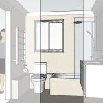 Small Bathroom 3D   Helen Baumann Design