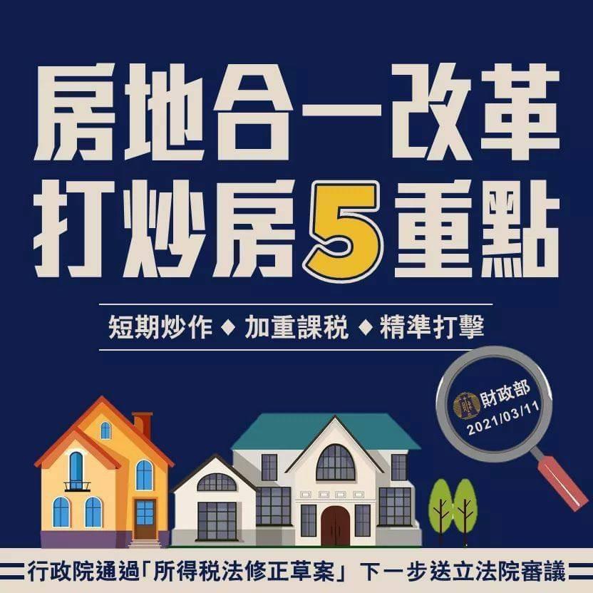 房地合一稅改革5大重點