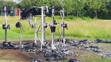 'Mindless' playground arsonists spoil children's fun