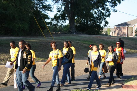 Grambling State students show high school students the campus